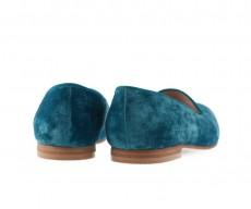 Туфли лоферы Royal Velvet Turquoise