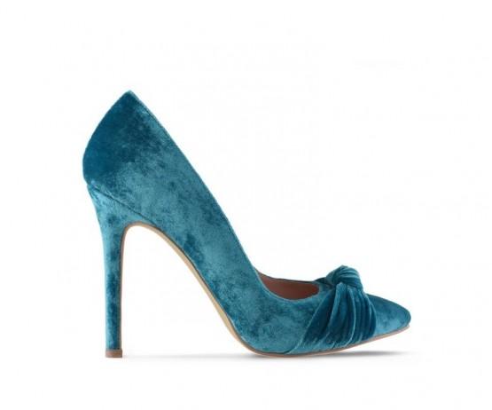 Туфли лодочки Royal Velvet Turquoise